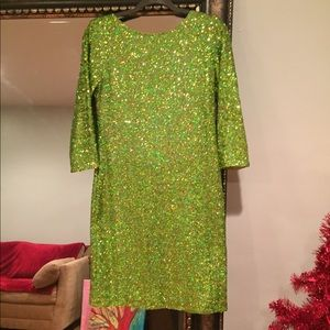 ♥️♥️♥️♥️NWT ASOS-Green sequins cocktail dress🧨🧨